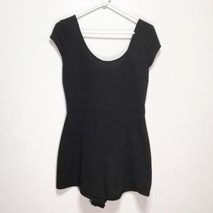 Urban Outfitters Black Open Back Tie Romper